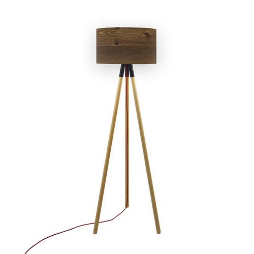 Crea Lighting Trio Wood Naturel Lambader - Rustik