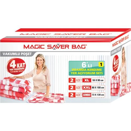 """Magic Saver Bag 6 lı """"Odamda Kendime Yer Açıyorum"""" Seti - 1 li"""