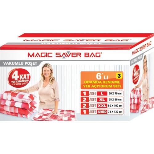 """Magic Saver Bag 6 lı """"Odamda Kendime Yer Açıyorum"""" Seti - 3 lü"""