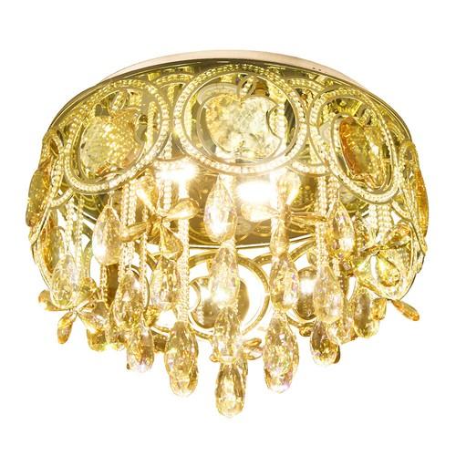 Vitale Kristal Camlı Altın Apple Tavan Avize