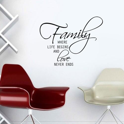 Özgül Grup Özgül Grup Family Duvar Sticker KBS-146 | 91x72