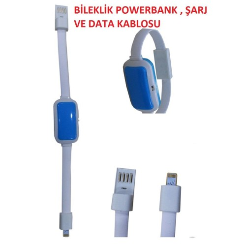 Magic İphone Bileklik Powerbank Şarj Ve Veri Aktarım Kablosu