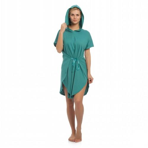 Tril Kalp Yazlık Panço Bornoz& Plaj Kıyafeti - Marin Yeşil