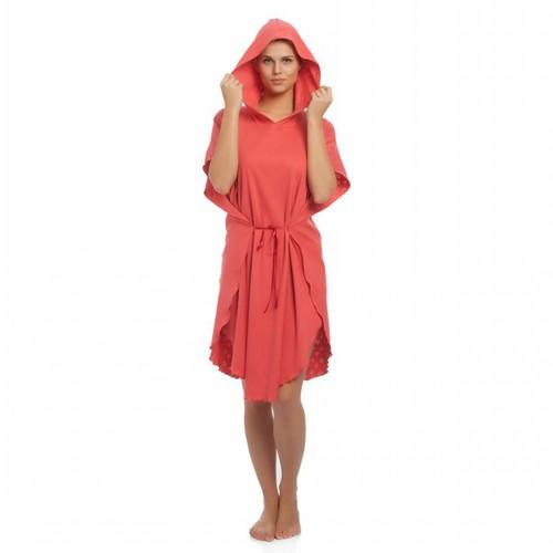 Tril Kalp Yazlık Panço Bornoz& Plaj Kıyafeti - Mercan