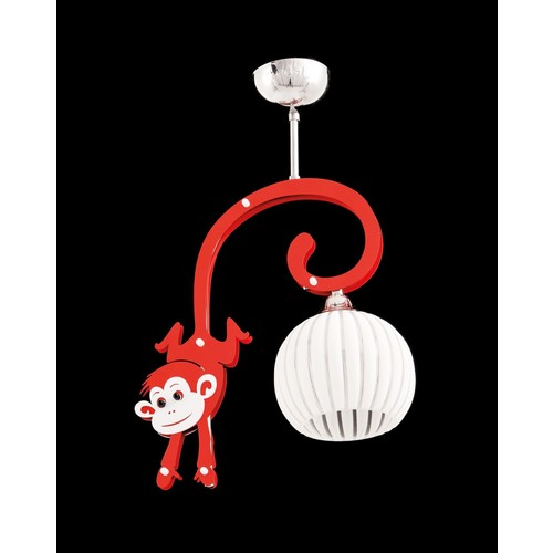 Sedef Avize 4210-1Pred Kırmızı Maymun Sarkıt