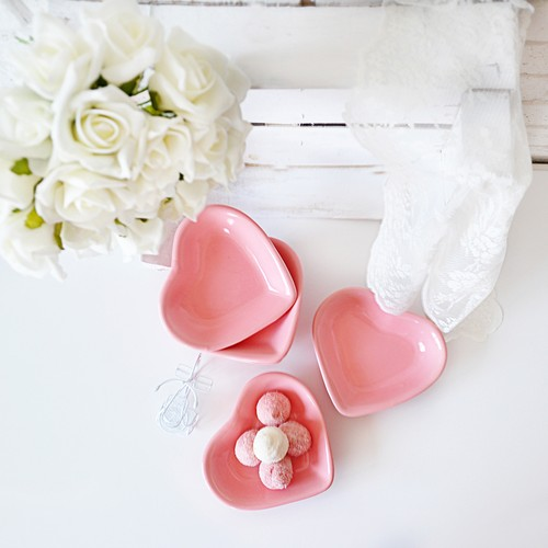 Keramika Çerezlik Kalp 14 Cm Pembe