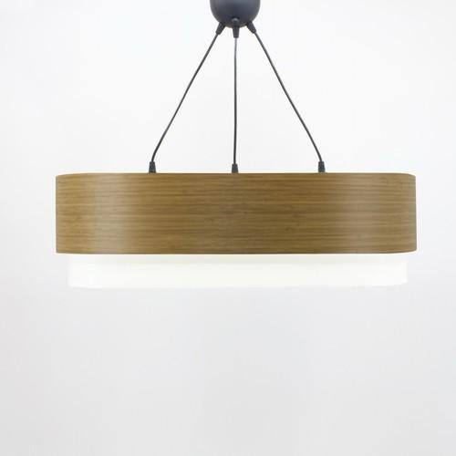 Crea Lighting Doubleshade Oval Sarkıt Wood / Koyu Bambu - 70 cm