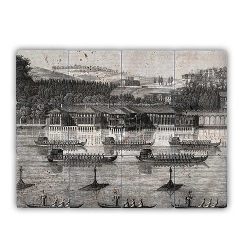 Oscar Stone Osmanlı Denizcileri Doğal Taş Tablo