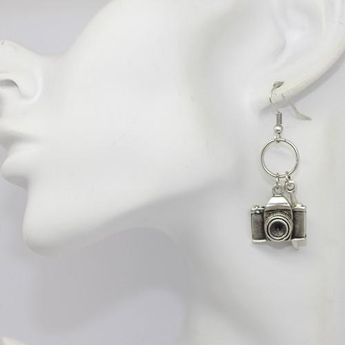 Fotoğraf Makinesi Erkek ve Bayan Küpe