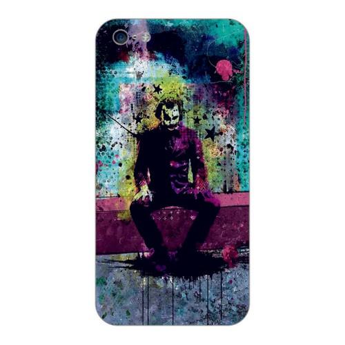 Bordo İphone 4S Kapak Kılıf Renkli Joker Baskılı Silikon