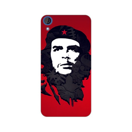 Bordo Htc Desire 828 Kapak Kılıf Che Guevara Baskılı Silikon