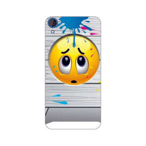 Bordo Htc Desire 828 Kapak Kılıf Emoji Baskılı Silikon
