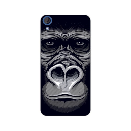 Bordo Htc Desire 828 Kapak Kılıf Goril Baskılı Silikon
