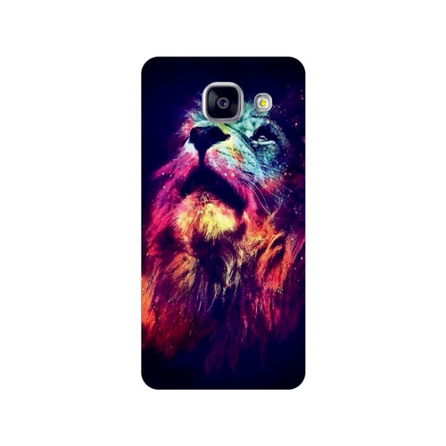 Bordo Samsung Galaxy A3 2016 Kapak Kılıf Renkli Kaplan Baskılı Silikon