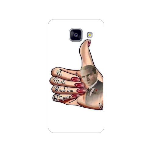 Bordo Samsung Galaxy A5 2016 Kapak Kılıf Atatürk Baskılı Silikon