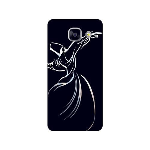 Bordo Samsung Galaxy A5 2016 Kapak Kılıf Semazen Mevlana Baskılı Silikon