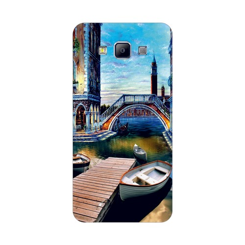 Bordo Samsung Galaxy A7 Kapak Kılıf Baskılı Silikon