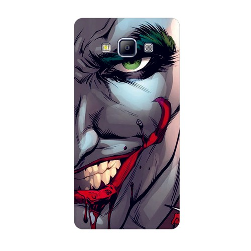 Bordo Samsung Galaxy E5 Kapak Kılıf Joker Baskılı Silikon