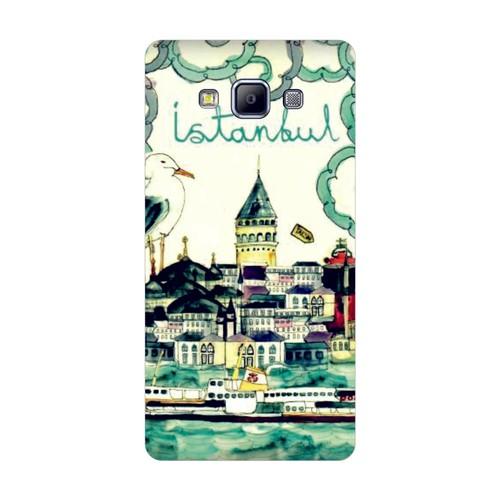 Bordo Samsung Galaxy Grand Max Kapak Kılıf İstanbul Baskılı Silikon