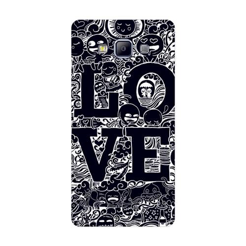 Bordo Samsung Galaxy A3 Kapak Kılıf Love Baskılı Silikon