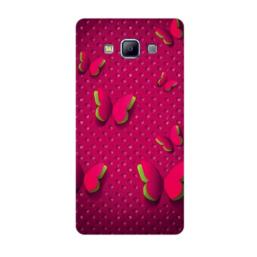 Bordo Samsung Galaxy A3 Kapak Kılıf Baskılı Silikon