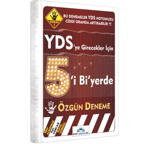İrem Yayınları Yds 2017 Beşi Bi Yerde Özgün Deneme