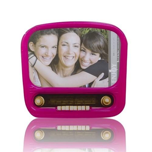 BuldumBuldum Nostalgic Radio And Camera Glass Picture Frames - Nostaljik Radyo Ve Kamera Fotoğraf Çerçeveleri - Radyo Koyu Sarı