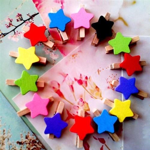 BuldumBuldum Renkli Yıldız Mandal Seti 12Li