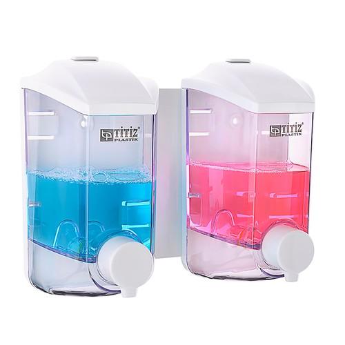 Titiz Damla İkiz Sıvı Sabun ve Şampuan Makinesi