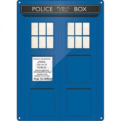 Half Moon Bay Doctor Who Tardis Metal Duvar Levhası