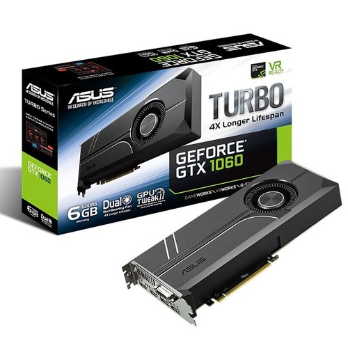 Asus TURBO Nvidia GeForce GTX 1060 6GB 192Bit GDDR5 (DX12) PCI-E 3.0 Ekran Kartı TURBO-GTX1060-6G