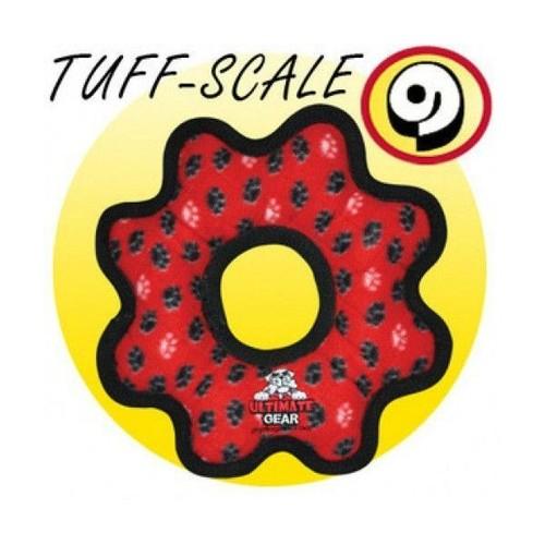 Tuffy Pati Desenli Halka Şeklinde Köpek Oyuncağı 30 Cm (Kırmızı)