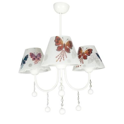 Nisaluce 3 Lü Modern Kelebek Avize-Beyaz