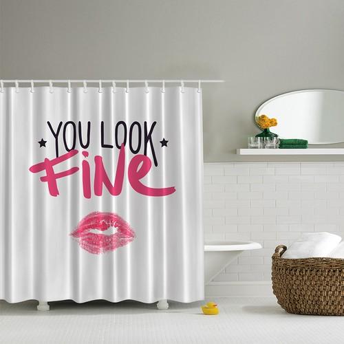 Orange Venue 3D Baskılı Duş Perdesi You Look Fine