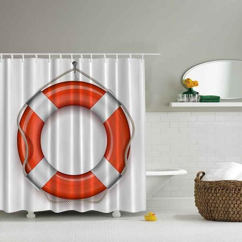 Orange Venue 3D Baskılı Duş Perdesi Simit