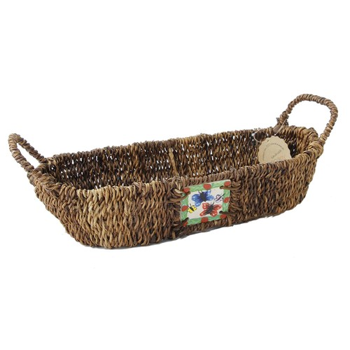 Kanca Ev Oval Yayvan Ekmek Meyve Sepeti Kelebek Küçük