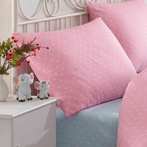 Pink&More Pink Dot Pamuklu Yastık