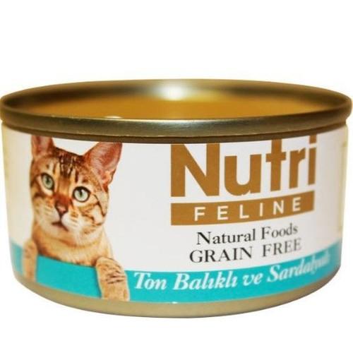 Nutri Feline Tahılsız Ton Balık Sardalyalı Kedi Konservesi 80 gr