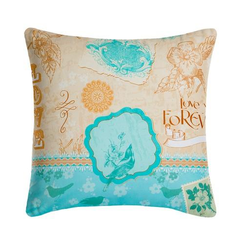Home De Blue Dekoratif Kırlent Shabby Chic v6