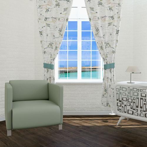 Misya Home Mary Rose Mavi Fon Perde 170x270 cm