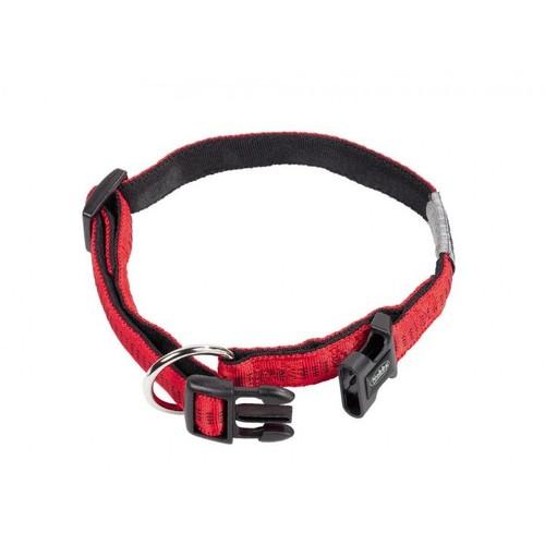 Nobby ''Soft Grip'' Emniyet Kilitli Köpek Boyun Tasması 20/30 cm X 10 mm Kırmızı