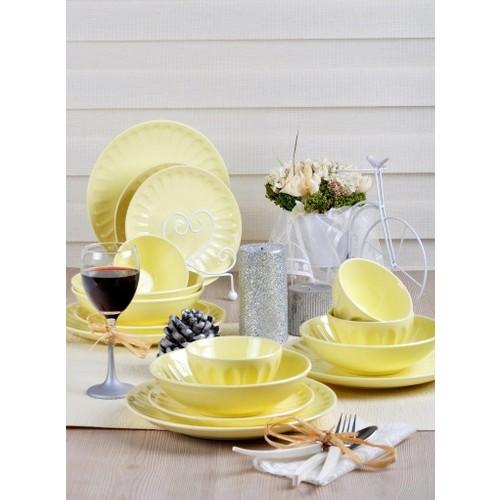 Keramika 16 Parça Yemek Takımı Açık Sarı 103