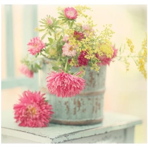 Fotocron Dekoratif Tablo Saksı Çiçekleri