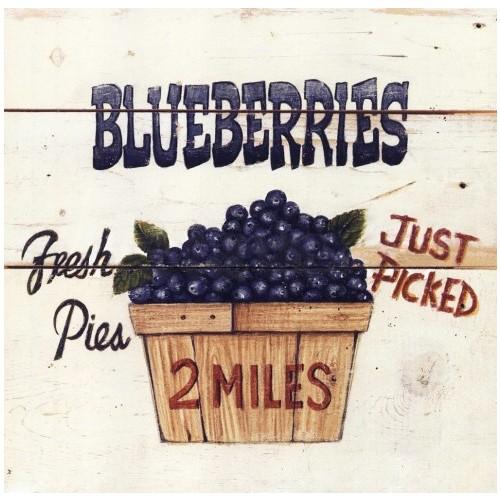 Fotocron Dekoratif Tablo Blueberries