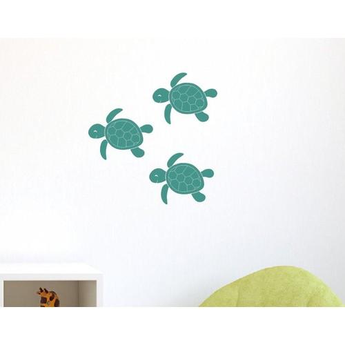 Dekorjinal Mavi Kaplumbağa Duvar Sticker CST055