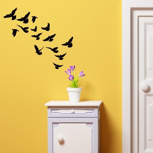 Dekorjinal Kuşlar Duvar Sticker CST025