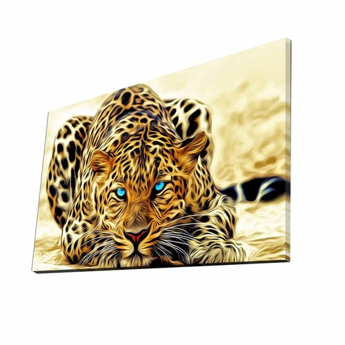 Mania Leopar 45x70 cm Dekoratif Kanvas Tablo 65