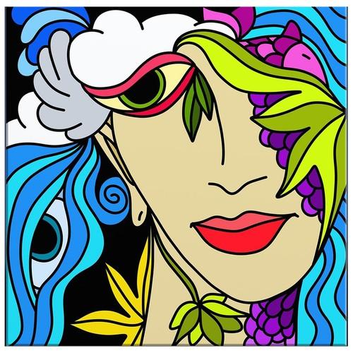 Arte Modern Kadın Çizim Kanvas Tablo