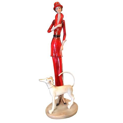 N'crea Home Kırmızı Pantolonlu Bayan Biblo
