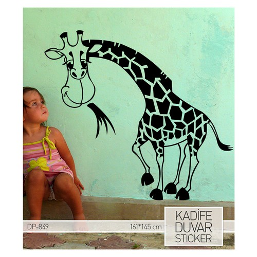 Artikel Baby Zürafa Kadife Duvar Sticker 161x145 cm DP 849